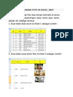 Cara Memasukan Foto Di Excel