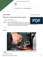 Breakthrough in Electrochemistry