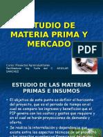 III. Estudio de Materia Prima y Mercado