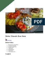 Bubur Manado Ikan Sunu