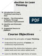 D5 - Introduction to Lean Thinking