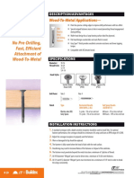 201105310328Teks Wood Metal Fasteners Sell Sheet