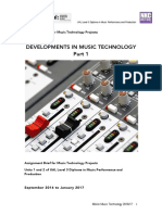 Ual Units 1-2 Developments in Music Technology
