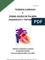 Insuficiencia cardiaca y Edema agudo de pulmón