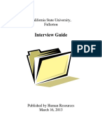 California State University - Interview Guide