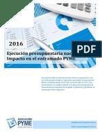 Informe Asoc Pyme - Ejecución Presupuestaria 2016