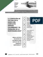 LA CONDICION DE VICTIMA EN EL MARCO DEL CONFLITO ARMADO..pdf