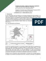 Expansion Urbana de Ciudades Intermedias Modelos de Desarrollo y Legislacion. Reflexion a Partir Del Caso Del Gran Mendoza, Argentina