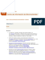 Articulo de Acido Ascorbico