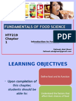 Chp 1 Intro to Food Science
