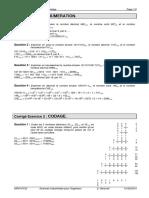 TD 32 Corrigé - Numération Et Codage
