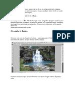 Tutorial Cascada y Madera