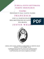 20161005 Libretto Vespri Con Arciv Canterbury