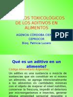 Aspectos Toxicologicos de Aditivos en Alimentos
