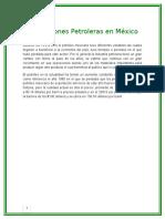 Exportaciones Petroleras en México