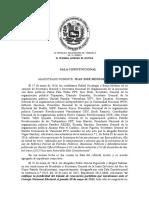 Sentencia Del TSJ Sobre Partidos Políticos