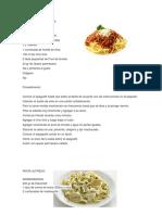 Spaguetti Bolognesa