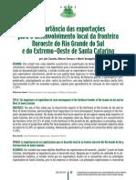 A Importância Das Exportações Para o Desenvolvimento Local Da Fronteira Noroeste Do Rio Grande Do Sul e Do Extremo-Oeste de Santa Catarina