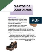 Zapatos Plataformas