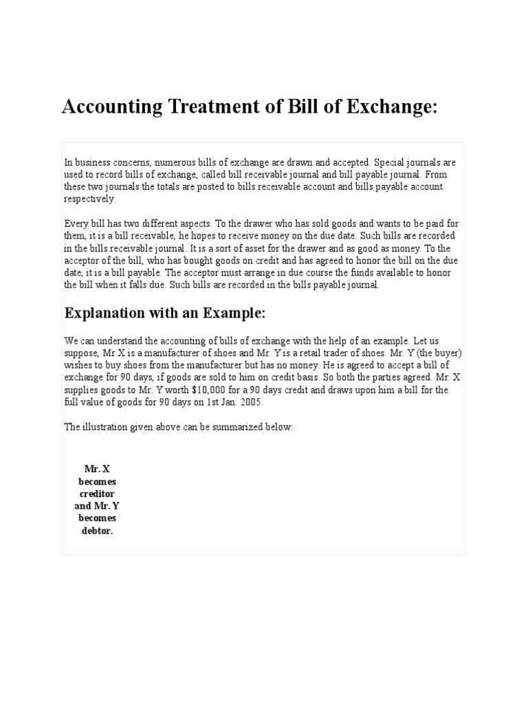 Bill of exchange negotiable instrument discounting altavistaventures Gallery