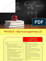 Physics 28 - Electrical Quantities 2 (1)