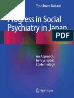Progress in Social Psychiatry in Japan an Approach to Psychiatric Epidemiology