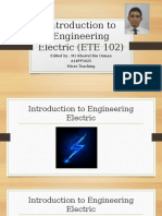 Introduction to Engineering Electric (ETE 102)
