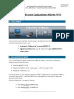 Nuevas Condiciones Equipamiento Cliente FTTH -V.3