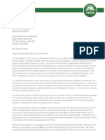 Seattle Arena letter to city offering to privately finance arena
