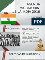 Agenda Migratoria de La India .2016