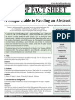 Reading Abstract