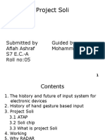 A power point presentation of project soli