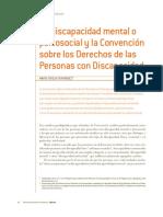 La Discapacidad Mental o Psicosocial