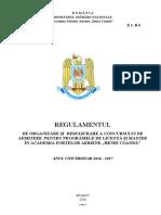 Regulamentul de organizare si desfasurarea a  concursului de admitere.pdf