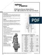Bronze Safety Relief Valves-Models SV5601 SV5708-Technical Information