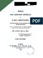 Essai Sur l'Histoire Générale de l'Art Militaire