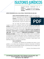 Desistimiento de Patrocinio Sala Penal Transitoria Lima Sur