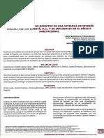 Análisis de Los Costos Directos de Una Vivienda de Interés Social en Bogotá y Su Influencia en El Déficit Habitacional