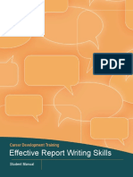 effective report writing skills