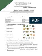 Examenes Semestrales de Ciencias Naturales Doris 2015