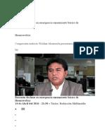 Buscarán Declarar en Emergencia Saneamiento Básico de Huancavelica