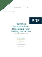 formative evaluation plan