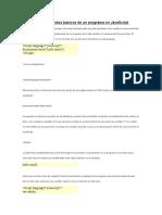 Estructura y Comandos Básicos de Un Programa en JavaScript