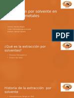 Extracción Por Solvente en Otros Metales