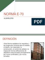 NORMA E-70M