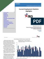 Bureau of Labor Statistics Highlights for September