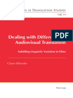 Dealing With Difference in Audiovisual Translation - [Claire_Ellender]--