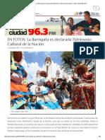 La Burriquita Es Declarada Patrimonio Cultural de La Nación
