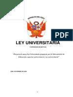 Ley Universitaria 2006 Esposicion de Motivos