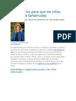 10 Ejercicios Para Que Los Niños Superen La Tartamudez